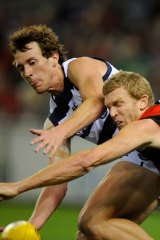 No luck: Geelong's Mitch Brown needs shoulder surgery.