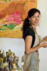 Inside working: Jo Bertini in her studio.