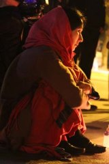 Mourning her cousin: Fatima Atif at a rally protesting the killing of Hazaras.