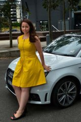 Emilia Rossi paid extra to get her Audi with metallic white paint.
