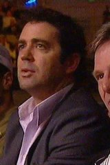 Garry Lyon (left) and Sam Newman at the Mundine fight.