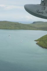 Pearl harbour … flying over Paspaley operations off the northern WA coast.