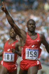 Past life: Ben Johnson after winning the 100m final at the Seoul Olympics.