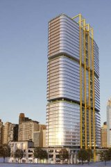 An artist's impression of the building C4 at Barangaroo.