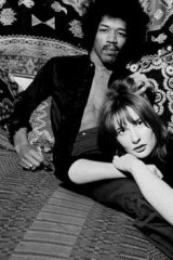 Kathy Etchingham with Jimi Hendrix in London in the 1960s. Ms Etchingham objects to the way their relationship is portrayed in a new biopic of the late musician.