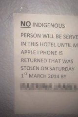 The sign which was erected outside a Coolgardie pub.
