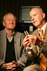 Professor Ken Thompson (right) with patient Thomas Monaghan.