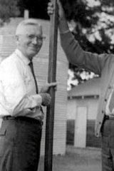 Sect members Andrew Abernathy (left) and John ''Evan'' Jones in 1961.