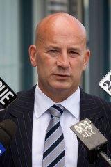 On the attack ... Opposition Leader John Robertson.