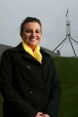 Portrait of PUP Senator Jacqui Lambie on her first day at Parliament House as a Senator, in Canberra on Thursday 3 July 2014. Photo: