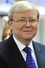 Using extravagant language: Kevin Rudd.