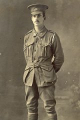 Dispatches from the front ... World War I digger James Murgatroyd Holgate in uniform.
