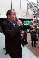 Senator Barnaby Joyce's anti-carbon tax rally.