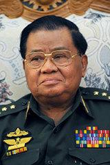 Ringing alarm bells ... the junta's leader, General Than Shwe.