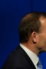 Promises: Liberal Leader Tony Abbott and Victorian Premier Dr Denis Napthine.