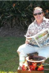 In this image supplied by Peter Foster, the conman is seen reading the Fiji Sunday Times newspaper with what he claims is a bowl of kava in front of him. Foster supplied this image after being challenged by Fairfax Media to prove he was actually in Fiji.