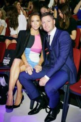 Kyly and Michael Clarke front row at Sydney Fashion Festival.