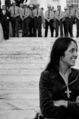 Joan Baez at the Selma to Montgomery marches in 1965.