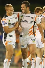 Joy … Braith Anasta celebrates on Saturday.