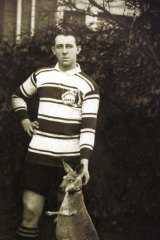 Rugby league player Jerry Bailey who toured England with the first Kangaroos side 1908-09.