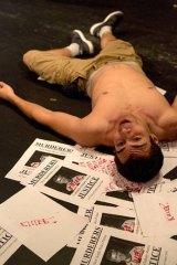 Confrontation … Travis Cardona as Ducky.