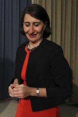 Opted to run on a unity ticket: Gladys Berejiklian.
