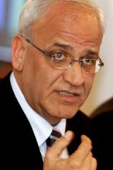 Stinging: Chief Palestinian negotiator Saeb Erakat did not mince words in his letter.