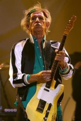 """It's good to be anywhere"": Keith Richards."