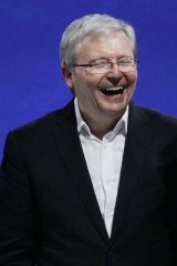 Kevin Rudd finds amusement at G20.