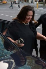 Gina Rinehart arrives at the IPA's 70th anniversary dinner.