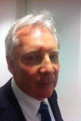 Former Muir staffer, Peter Breen, pictured after having skin cancer removed from his face.