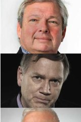 The right stuff: From top, Piers Akerman, Andrew Bolt and Gerard Henderson.