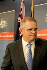 """We are not getting into the tactical discussion of things that happen at sea"": Immigration Minister Scott Morrison."