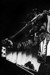 Brian Eno with stylish art-rock band Roxy Music, circa 1970.