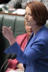 Prime Minister Julia Gillard in parliament last week.