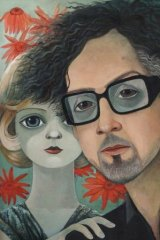<i>Spectrum</i>'s cover artwork: Margaret Keane and Tim Burton portrayed by Sonia Kretschmar.