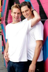 Mark Taylor (left) and Paul Dowson in <em>Playing Rock Hudson</em>.