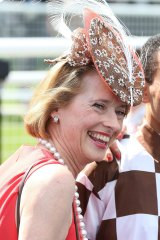 Moreira with Gai Waterhouse after riding Hampton Court to victory in last year's Championships at Randwick.
