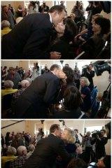 Opposition leader Tony Abbott at the Manly Women's Shelter in Sydney on Thursday.