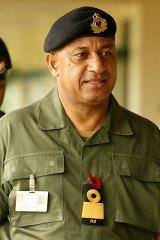 Fiji's military leader Commodore Frank Bainimarama.