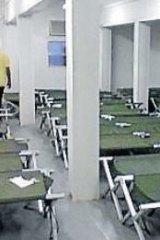 A recent glimpse of sleeping arrangements inside the Oscar compound.