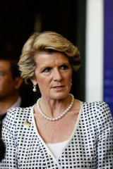 Foreign Affairs Minister Julie Bishop: Claimed thousands of dollars worth of flights to travel back from an Indian society wedding.