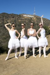 Star quality: Australian Ballet Company corps de ballet members (from left), Benedicte Bemet, Brooke Lockett, Karen Nanasca and Heidi Martin.