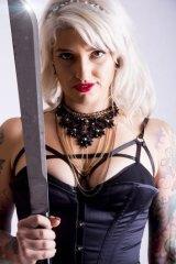 Burlesque aerialist Elle Diablo is appearing at Ballarat's inaugural World Sideshow Festival.
