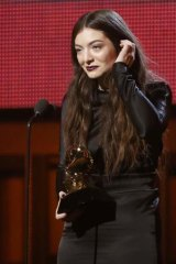 Lorde won song of the year and best pop solo performance for <i>Royals</i> at the 56th annual Grammy Awards.