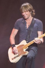 Keith Urban played a gig at the Brisbane Entertainment Centre.