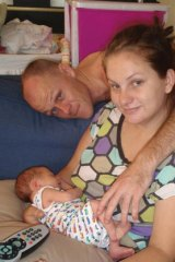 Michael McNamara as a baby, seen with his mother, Alannah, and father, Daniel, who died in an horrific car accident less than a year ago.