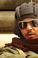 A rebel fighter in Ajdabiyah, Libya.