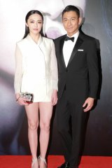 Actor Andy Lau and Yao Chen attend 'Firestorm' premiere in Macau.