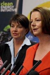 Anna Bligh and Julia Gillard.